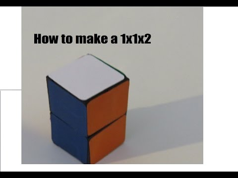 How to make a  lego 1x1x2!