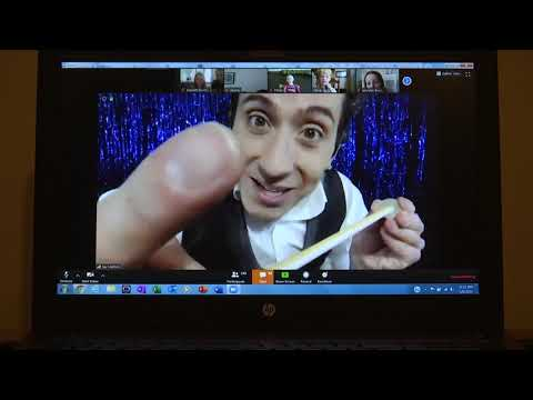 Magician Jay Mattioli streams live with the students of Buckland Mills Elementary School