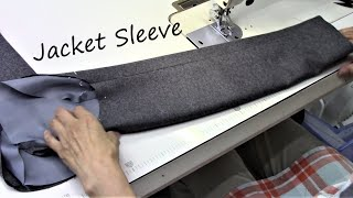How to sew a sleeve - functioning sleeve buttons - Tailored Jacket tutorial 袖の作り方・縫い方 ジャケット