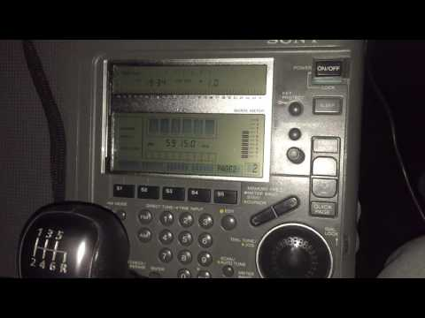 Sony ICF-SW77: Zambia NBC Radio 1, 5915 kHz, Lusaka, best ever reception