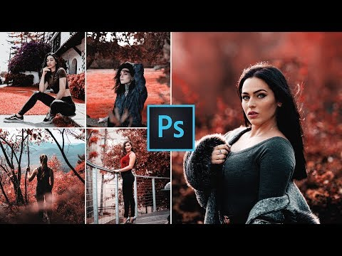 Red Theme Color Grading Effect In Photoshop