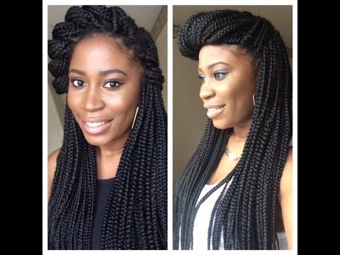 different ways to style braided hair how i style amp heavy box braids 5455