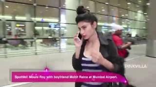 Spotted! Mouni Roy with boyfriend Mohit Raina at Mumbai Airport