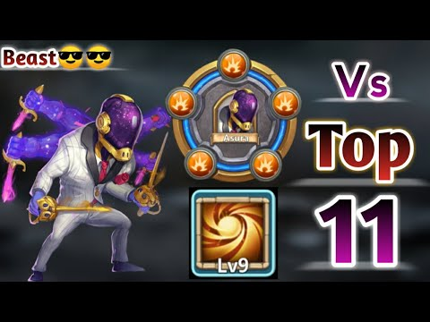 Asura | 30 BT Vs Top-11 Beast | 9/9 Sacred With 8 Stone Skin | Monster | Castle Clash