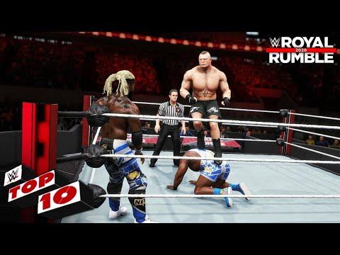 WWE 2K20 - Top 10 Royal Rumble 2020 Moments!