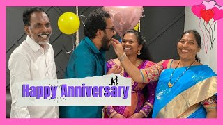 Our Special Wedding ❤️❤️ Anniversary with parents 👪 || KalyaniKarthik
