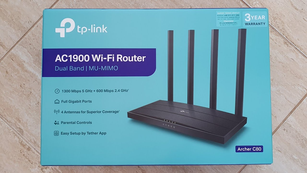 Tp Link Archer C80 Gigabit Router Review And Unboxing Youtube