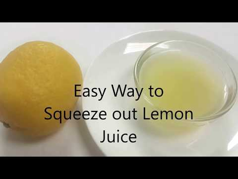 Easy Way to Squeeze out Lemon Juice