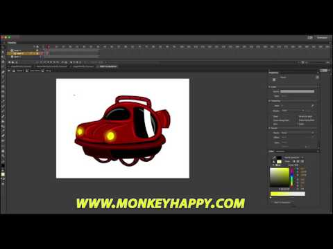 How to Draw a futuristic flying car - Adobe Animate CC