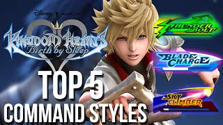 Kingdom Hearts Birth by Sleep - Top 5 Command Styles