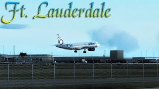 FSX [HD] - jetBlue A320 | Approach to Ft. Lauderdale | Extended Version