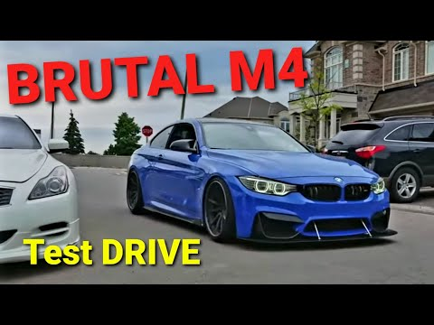 Nasty Sounding BMW M4 - M Performance Exhaust Crazy Backfire