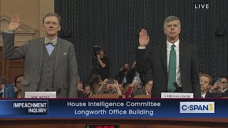 House Impeachment Inquiry - Taylor & Kent Testimony