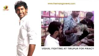 Vishal raids Tirupura video shop for pirated CDs of Pooja and Kaththi - Unseen Footage