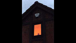 Burglar alarm sounder and strobe in action