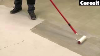 Підготовка поверхні стін і підлоги, грунтовка, відео інструкція виконання робіт з Ceresit CT17