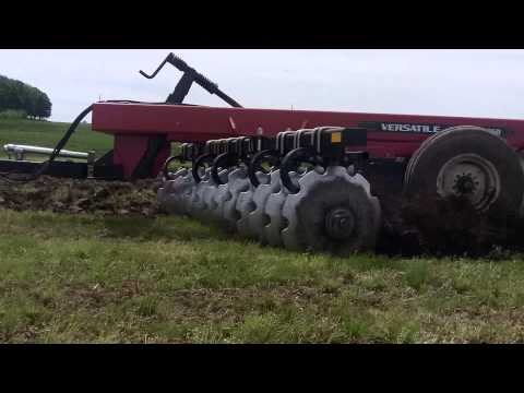 Versatile 260 Tractor pulling a Versatile SD650 Offset Disk in Wisconsin
