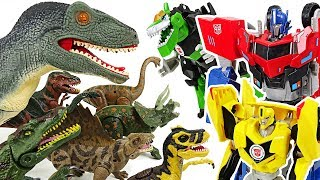 Protect the Super Wings airport!! Transformers RID vs Dinosaurs army!! - DuDuPopTOY