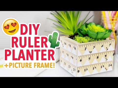 DIY Teacher's Gift Ruler Planter - Back to School 2016 - HGTV Handmade