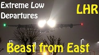 Beast from the East - Scary low departures at Snowy London Heathrow Airport