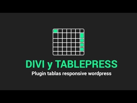 TABLEPRESS y DIVI 2019?▶ Plugin tablas responsive wordpress y divi incluye CSS thumbnail