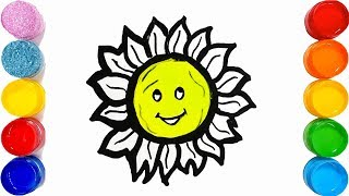 How to Draw Cute Sun Easy and step by step💗 Sun Drawing for kids  🌸TOO COLOUR ART💗💖💗