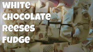 White Chocolate Reese's Fudge Recipe! Yum! | Omgwtftia