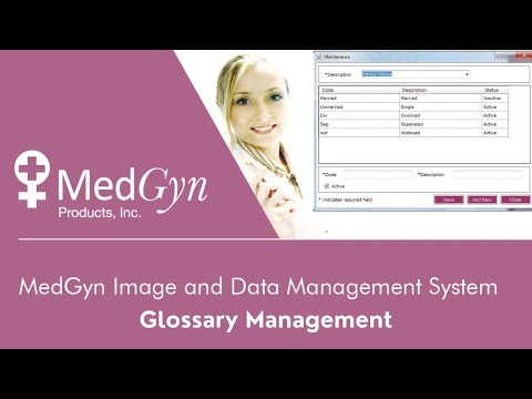 MedGyn Image and Data Management System - Glossary Management