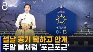 [날씨] 설날 공기 탁하고 안개…주말 봄처럼 '포근포근' / SBS