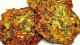 Оладьи из кабачков рецепт ( с сыром Фета) - Блюда из кабачков