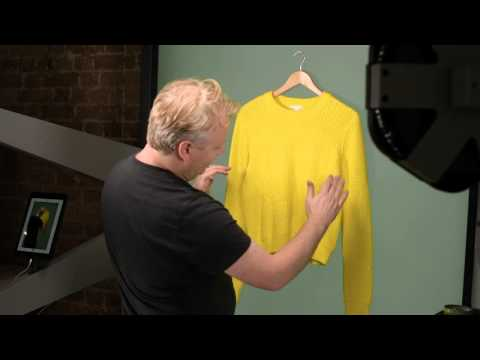 How to Photograph a Sweater on a Hanger