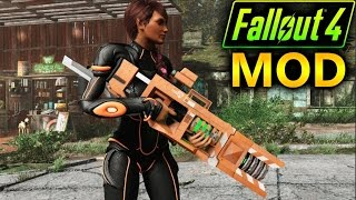 FALLOUT 4 MODS 1 ARMAS Nuka Gear, CROSS PlasRail, Alien Assault Rifle