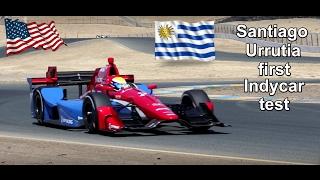 Santiago Urrutia first Indycar test