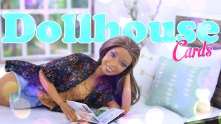 DIY - How to Make:  Folding Dollhouse Card with Pop Up Bed - Doll Craft - 4K