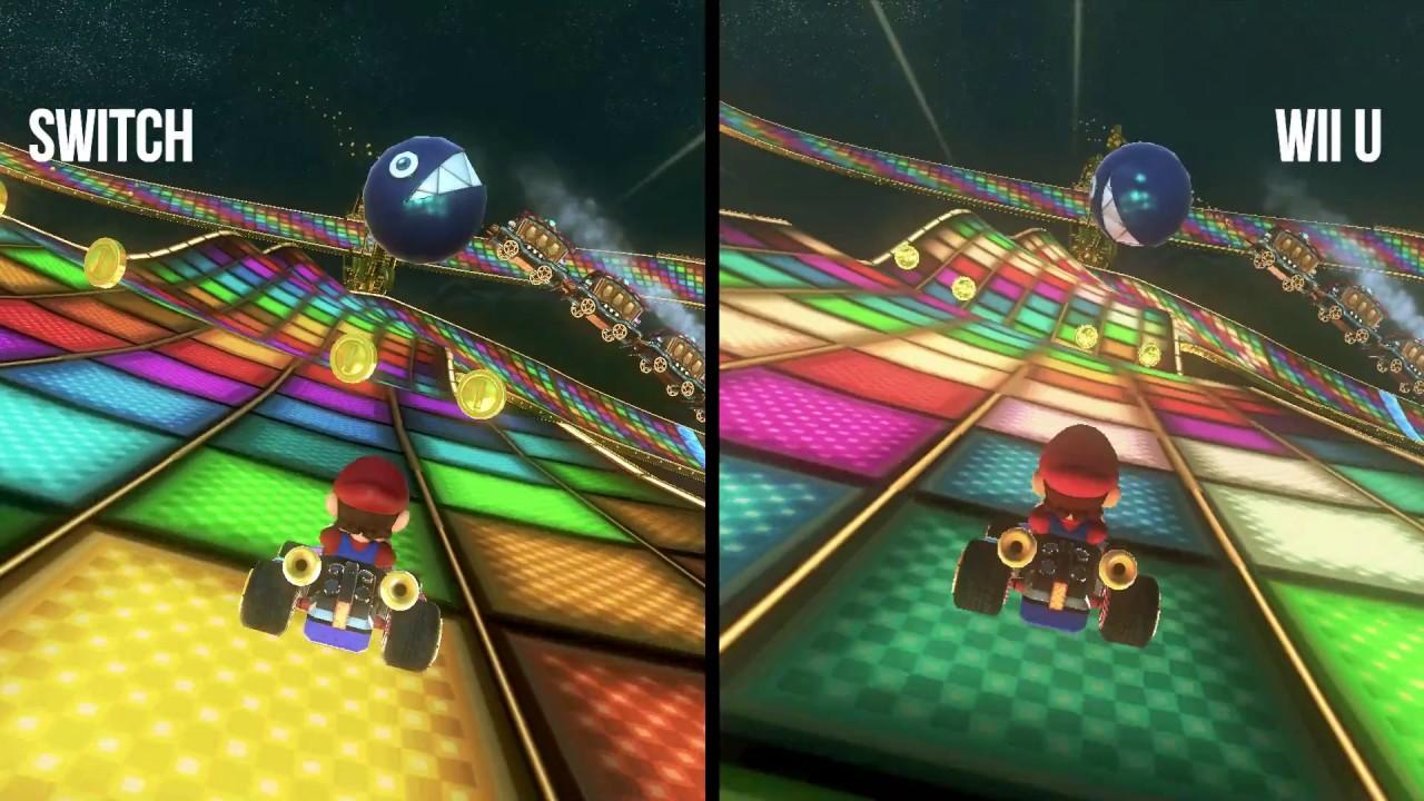 Mario Kart 8 Deluxe Switch Vs Mario Kart 8 Wii U Graphics Comparison Youtube