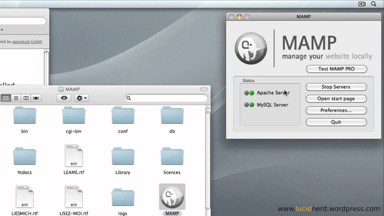 Installing MAMP On Mac OSX Part 1 - Lucid Nerd Tutorial