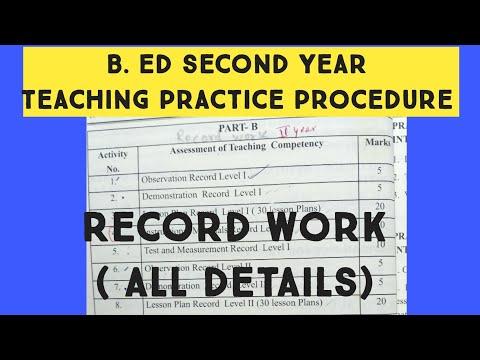 B. Ed second year ( teaching practice procedure)
