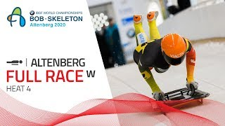 Altenberg | BMW IBSF World Championships 2020 - Women's Skeleton Heat 4 | IBSF Official