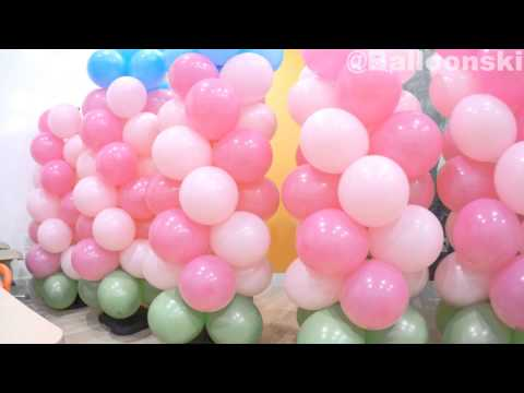 how to build a balloon wall