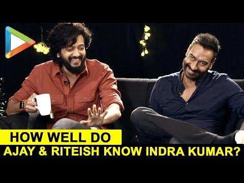 ENTERTAINING QUIZ: Ajay Devgn & Riteish Deshmukh's Closely Fought Battle on Indra Kumar