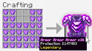 "Minecraft UHC but you can craft ""Armor Armor Armor Armor Armor Armor Armor Armor Armor Armor"".."