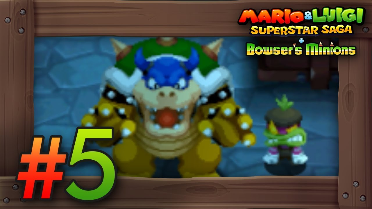 Mario Luigi Superstar Saga Bowser S Minions Walkthrough Part 5 Chucklehuck Woods 3ds Gameplay