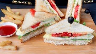 ফষটফড সটইল চকন কলব সযনডইচ  Bangladeshi Chicken Club Sandwich  Easy Club Sandwich