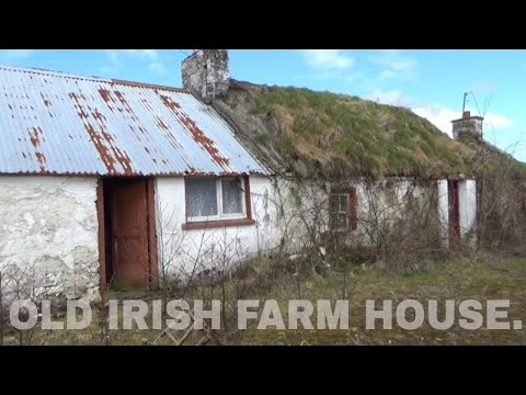 ABANDONED IRISH THATCHED COTTAGE AND FARM BUILDINGS, IRELAND. / LONESTAR EXPLORER TV.