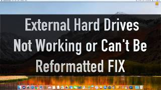 MacOS - External Drive NOT SHOWING / NOT REFORMATTING FIX - SPECIAL TUTORIAL & EASY FIX