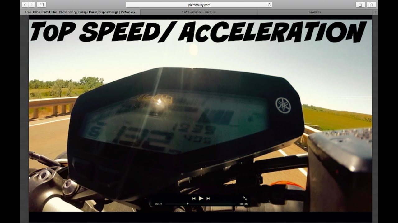 Fz 09 Brutal Acceleration And Top Speed Speedometer