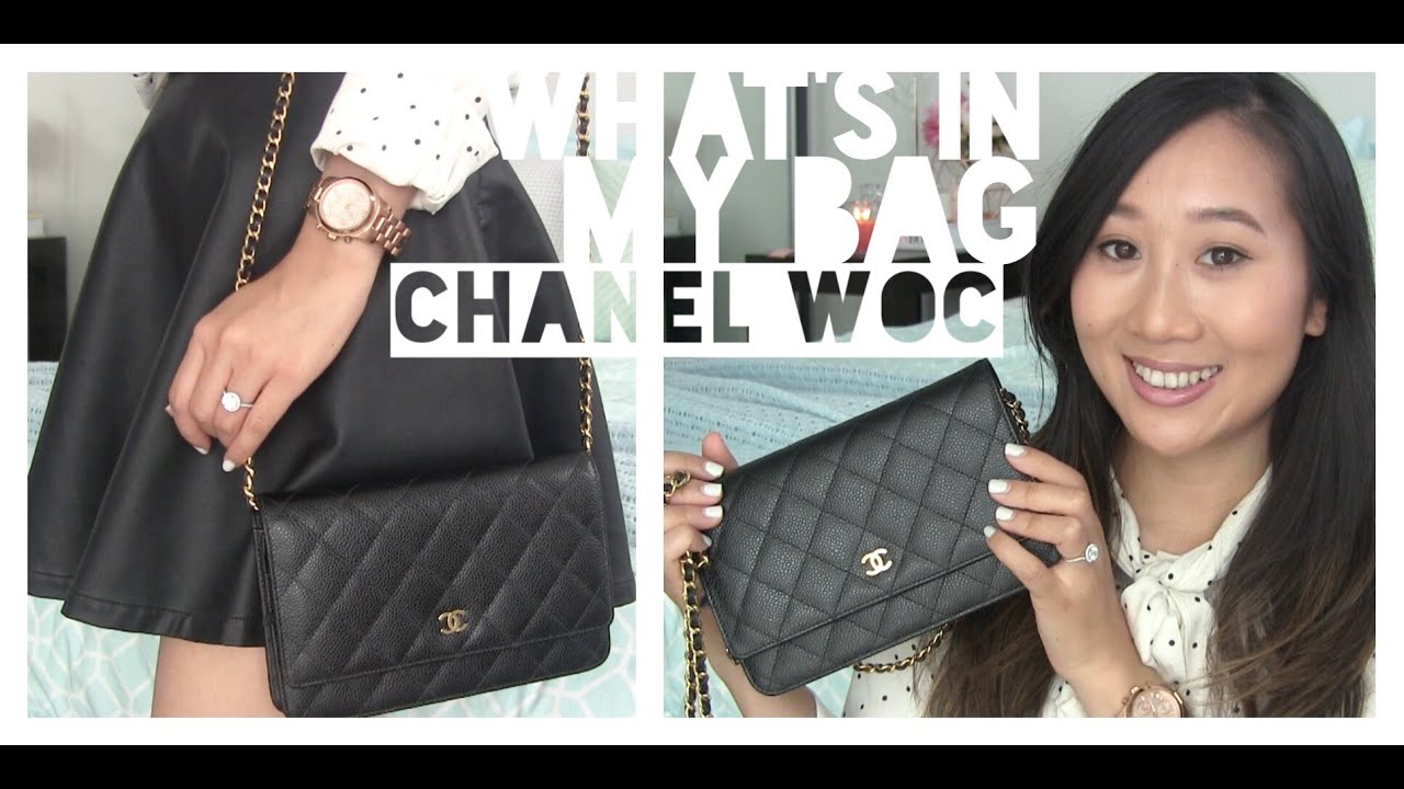 Chanel Classic Quilted WOC Review (Black Caviar Leather ...