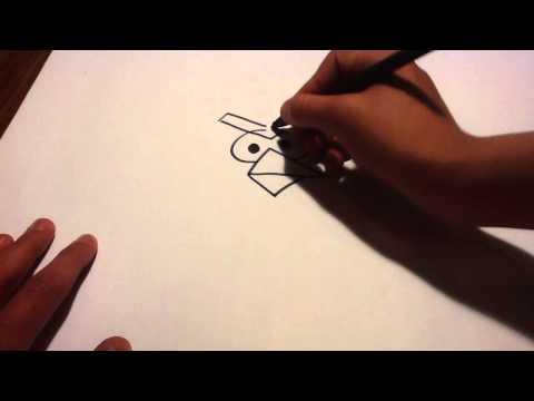 Dessiner un oiseau de Angry Birds - Dessiner l'oiseau rouge - Conseils Dessin