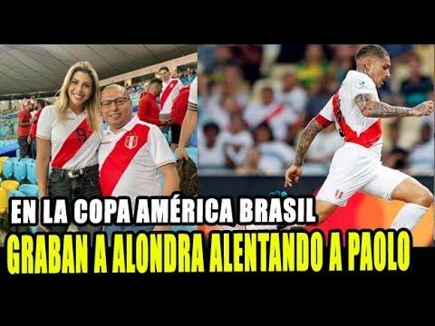 ALONDRA GARCIA ES GRABADA ALENTANDO A PAOLO GUERRERO EN BRASIL