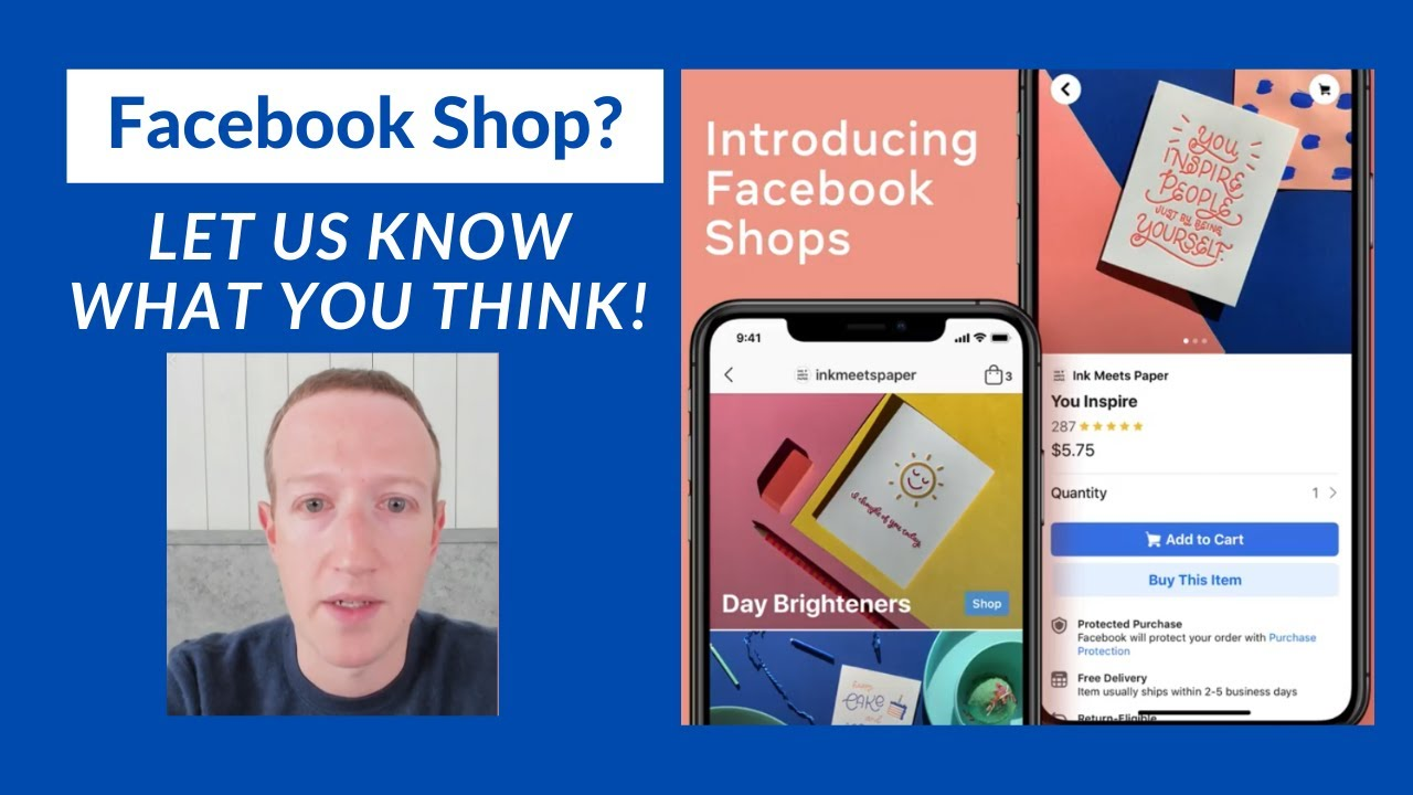 Mark Zuckerberg  New FACEBOOK SHOP. let us know what you think!